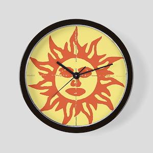 Orange Sunshine Tab Wall Clock
