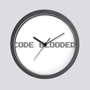Code Blooded Wall Clock