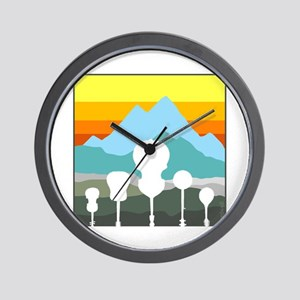 Mountain Music Wall Clock