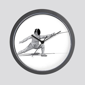 Fencing Wall Clock