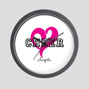 Love Cheer Heart Wall Clock