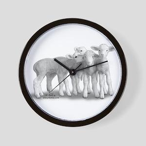 whisperlambs6 Wall Clock