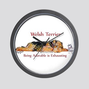 Exhausted Welsh Terrier Wall Clock