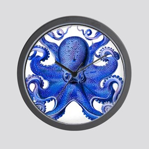 Blue Octopus Wall Clock