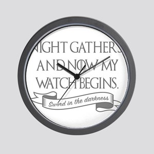 Night gathers and now my watch begins G Wall Clock