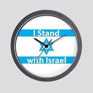 I Stand with Israel - Flag Wall Clock