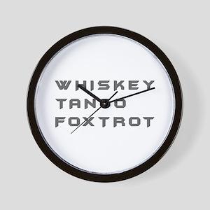 WTF-bat Wall Clock