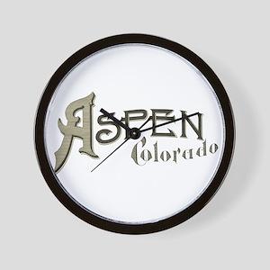 Aspen Colorado Wall Clock