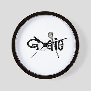 Lacrosse Goalie Wall Clock