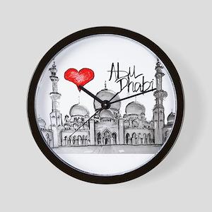 I love Abu Dhabi Wall Clock