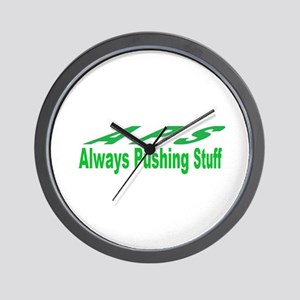 pushing stuff Wall Clock