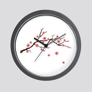 Cherry Blossom Flowers Branch Wall Clock