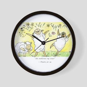 psalm 23: 3a Wall Clock