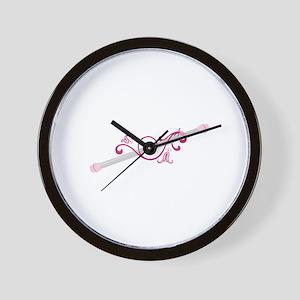Cheerleader Baton Wall Clock