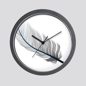 Gray Quill Wall Clock
