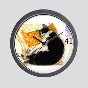 1995 Great Britain Sleeping Cat Postage Stamp Wall
