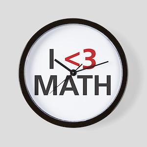 I <3 Math Wall Clock