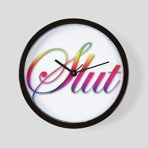 Rainbow Slut Wall Clock