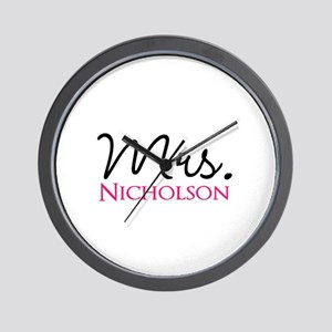 Customizable Name Mrs Wall Clock