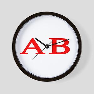 Alpha Beta Wall Clock