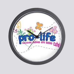 Pro-Life Flowers & Butterfly Wall Clock