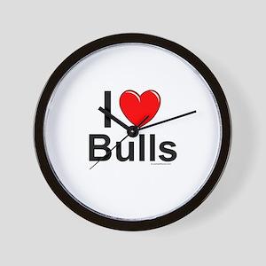 Bulls Wall Clock