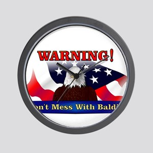 Don't mess with baldie! Wall Clock
