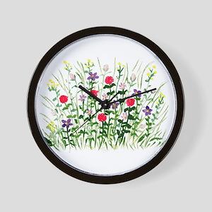 Field of Flowers Wall Clock