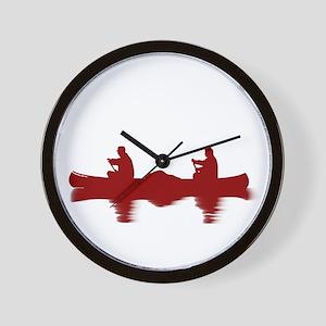 RED CANOE Wall Clock