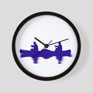 BLUE CANOE Wall Clock