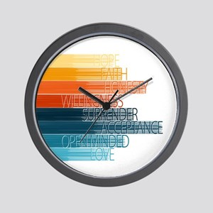 Spiritual Principles Wall Clock