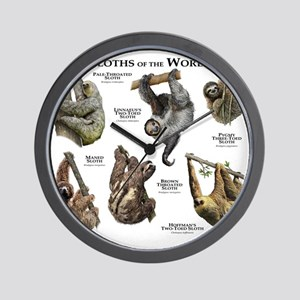 Sloths of the World Wall Clock