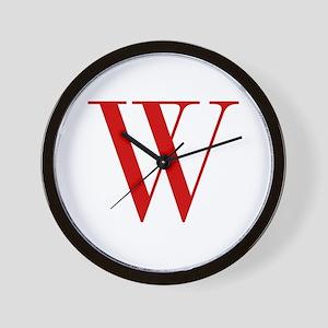 W-bod red2 Wall Clock