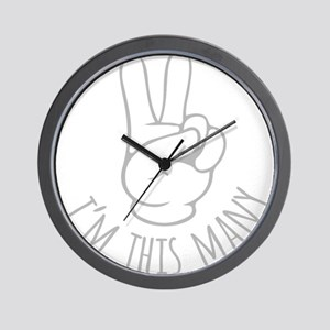 Im This Many Two Wall Clock