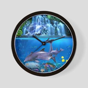 The Dolphin Family Wall Clock