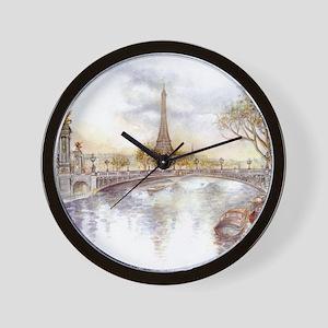Eiffel Tower Painting Wall Clock