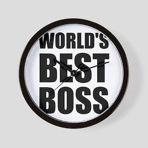 Worlds Best Boss 2 Wall Clock