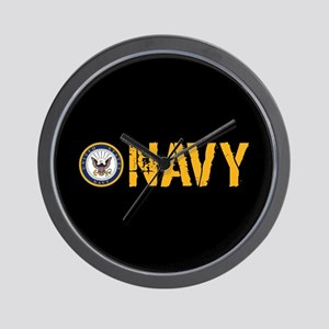 U.S. Navy: Navy (Black) Wall Clock
