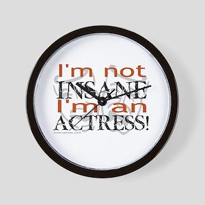 Insane actress Wall Clock