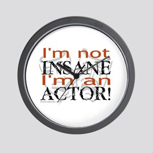 Insane Actor Wall Clock