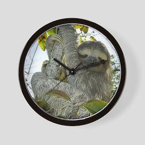 Live Life Like a Sloth Wall Clock