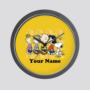 Peanuts Walking Personalized Wall Clock