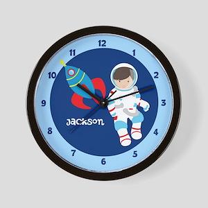 Astronaut Space Kids Wall Clock