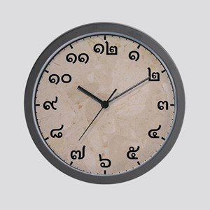 Thai Numbered Wall Clock