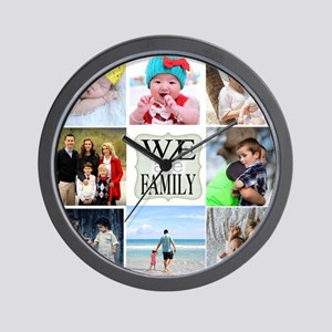 Custom Family Photo Collage Wall Clock