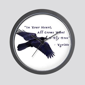 All Crows Want to Fly Free Wall Clock