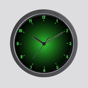 Neon Green Wall Clock