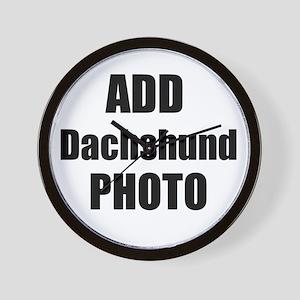 Add Dachshund Photo Wall Clock