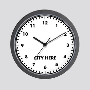 Blank City Here Wall Clock