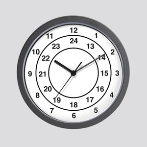 24-Hour Large Numeral Wall Clock